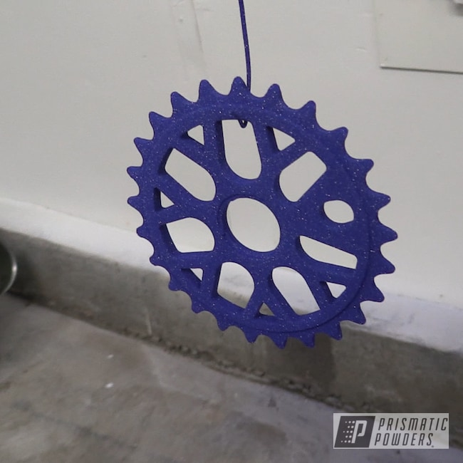 Powder Coating: Bicycles,Clear Vision PPS-2974,Bicycle Parts,Bike Parts,sprocket,Illusion Royal PMS-6925
