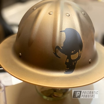 Powder Coated Gold Custom Hard Hat
