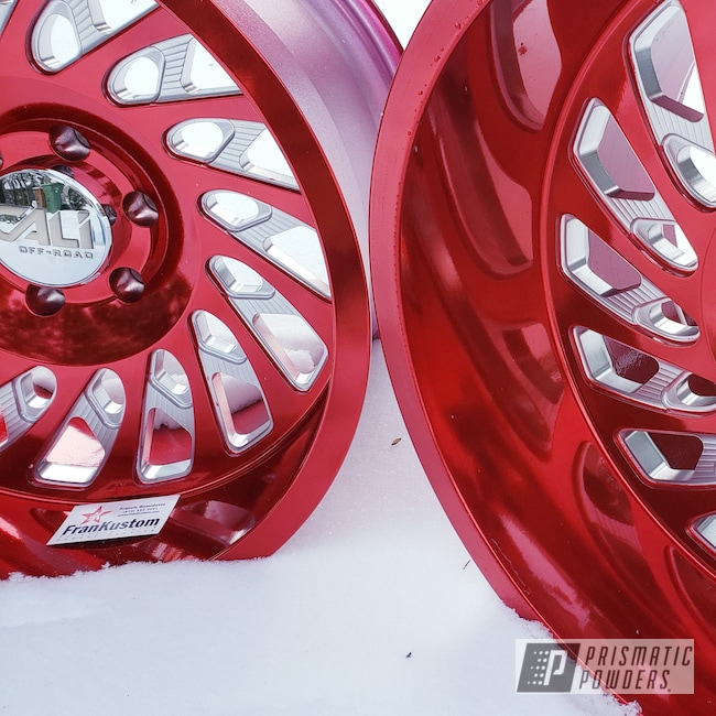 """Powder Coating: Wheels,Automotive,Clear Vision PPS-2974,20"""",20"""" Aluminum Wheels,Deep Red PPS-4491"""
