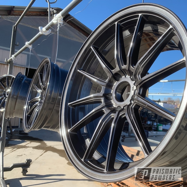 Powder Coating: Wheels,Black Chrome II PPB-4623,Automotive,rockin rims,SUPER CHROME USS-4482,chrome,Colorado,Black chrome,#applied plastic coatings