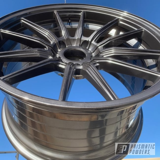 Powder Coated Black Chrome Rockin Rims Wheels