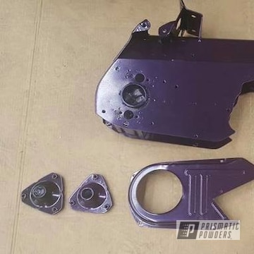 Powder Coated Purple Harley Davidson Motorcycle Parts