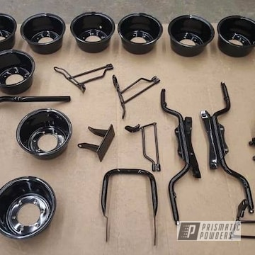 Powder Coated Black Honda Trail 90 Motorcycle Parts