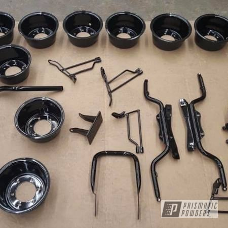 Powder Coating: Automotive,Motorcycle Parts,Honda Motorcycle,Trail 90,GLOSS BLACK USS-2603,Honda,Motorcycles