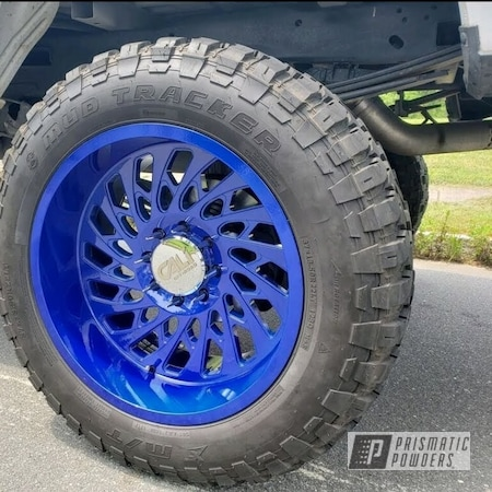 "Powder Coating: Wheels,Illusion,Automotive,Blue wheels,Clear Vision PPS-2974,22"" Wheels,Illusion Blueberry PMB-6908,22"",Ford,f250"