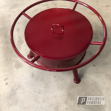 Powder Coated Cherry Red Fireball Firepit