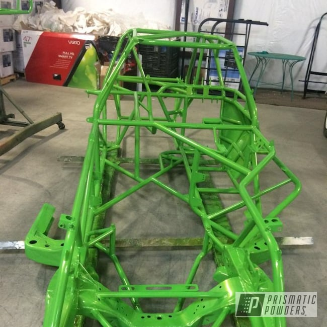 Powder Coating: Automotive,Clear Vision PPS-2974,Lime Juice Green PMB-2304,Lime Juice Green,Race Car Chassis