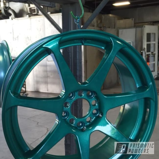 Powder Coating: Wheels,Automotive,Clear Vision PPS-2974,Illusion Tropical Fusion PMB-6919