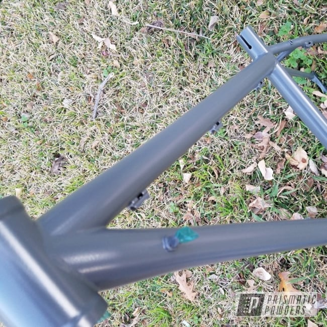 Powder Coating: Bicycles,Flat Gravel Grey PSB-6975,Bicycle Frame