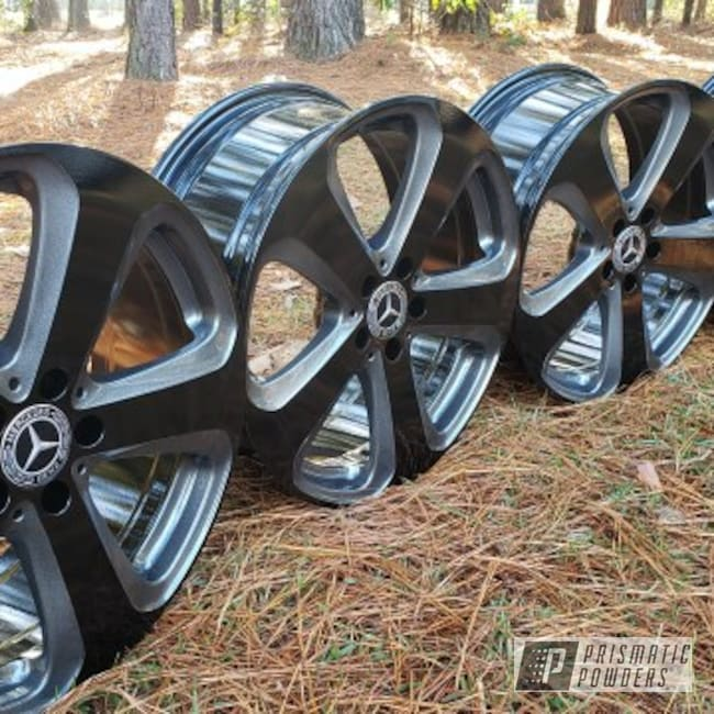 "Powder Coating: Wheels,19"" Wheels,Automotive,Clear Vision PPS-2974,Ink Black PSS-0106,Mercedes,Mercedes Benz,Kingsport Grey PMB-5027"