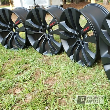 Powder Coated Black With Red 20 Inch Dodge Charger Wheels