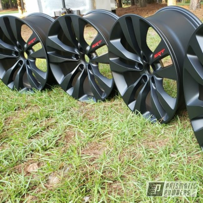 "Powder Coating: Wheels,Automotive,BLACK JACK USS-1522,20"" Wheels,Charger,Dodge,SRT,20"",Astatic Red PSS-1738"