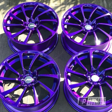 Powder Coated Metallic Purple Set Of Aluminum Rims