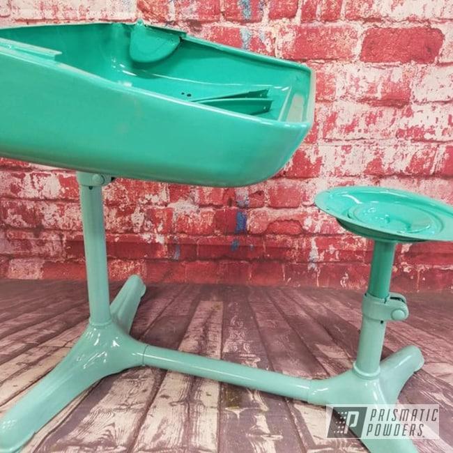 Powder Coating: Tropical Breeze PSS-6837,Sea Foam Green PSS-4063,Custom Furniture,Powder Coated Vintage Furniture,Restoration,Miscellaneous,Antique Desk Restoration