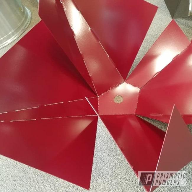 Powder Coating: Metal Art,Lighting,Toreador Red PMB-2753,Art,Light Fixture