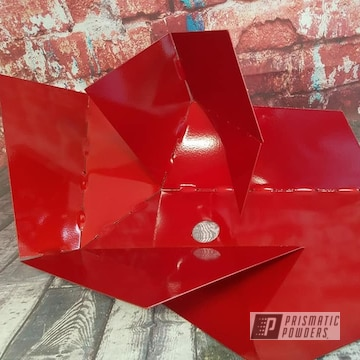 Powder Coated Red Metal Light Fixture