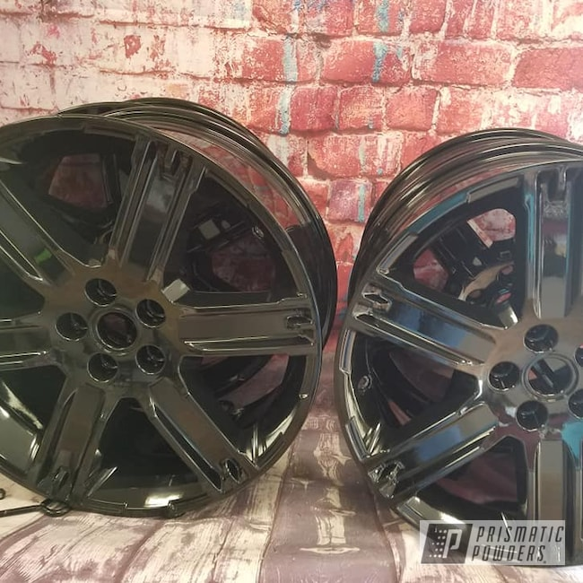 "Powder Coating: Wheels,19"" Wheels,19"",Automotive,Ink Black PSS-0106,19"" Aluminum Rims"