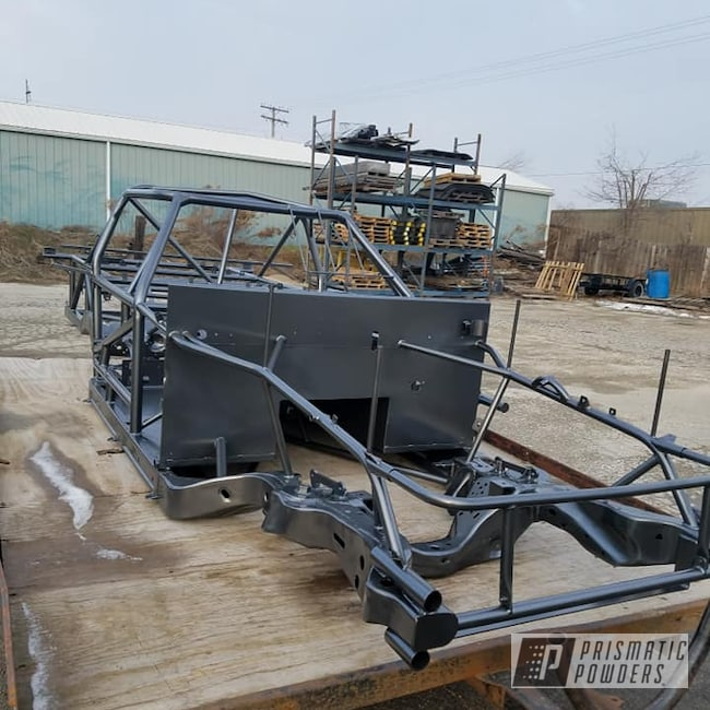 Powder Coating: Race Chassis,Automotive,Car Frame,chassis,Kingsport Grey PMB-5027,Race Car Chassis