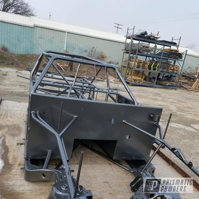 Race Car Chassis Coated With Kingsport Grey Prismatic Powders