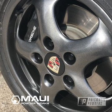 Powder Coated Grey Porsche 928 Magnesium Rims