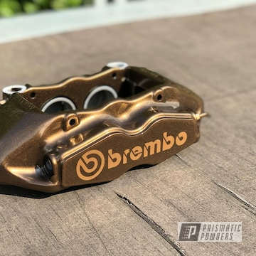 Powder Coated Bronze Brembo Brake Calipers