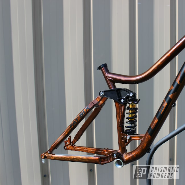Powder Coating: Single Powder Application,Bicycles,Custom Bicycle Frame,Sable Brown II PPB-5972