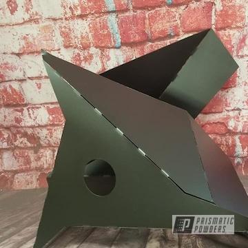 Powder Coated Black Metal Art Light Fixture