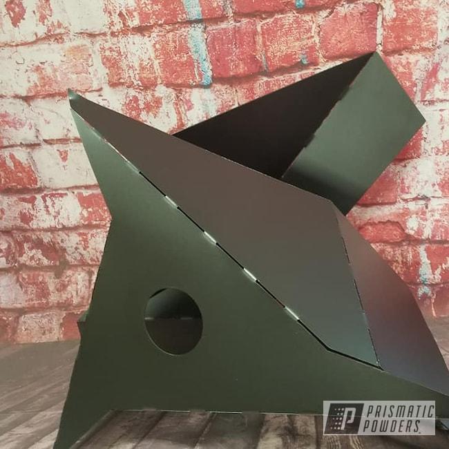 Powder Coating: Metal Art,STERLING BLACK UMB-1204,Lighting,Art,Light Fixture