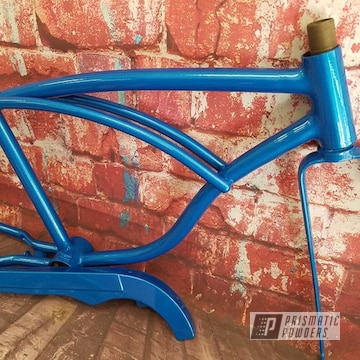 Powder Coated Light Blue Vintage Schwinn Bike Frame