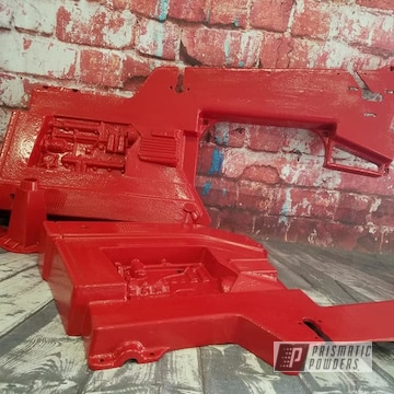 Powder Coated Red Tractor Pedal Car