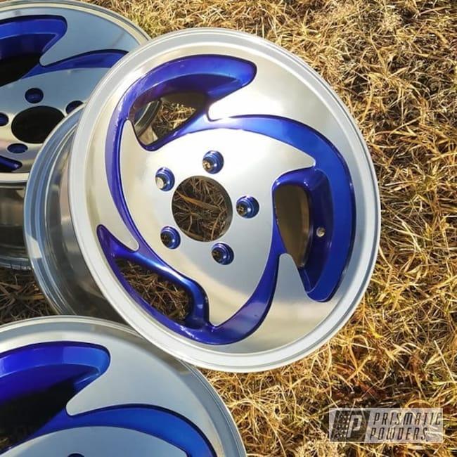 Powder Coating: Wheels,Automotive,Clear Vision PPS-2974,2 Tone Rims,SUPER CHROME USS-4482,Custom Wheels,Aluminium Rims,Automotive Rims,Intense Blue PPB-4474