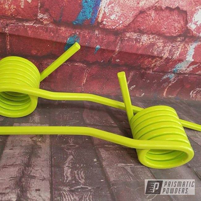 Powder Coating: Chartreuse Sherbert PSS-7068,Snowmobile,Springs