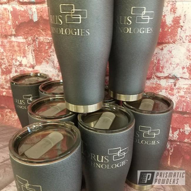 Powder Coating: Drinkware,Silver Splatter PWB-3044,30oz Tumbler,Textured,Custom Tumbler