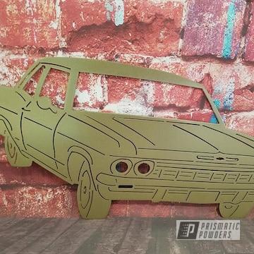 Powder Coated Gold Metal Car Cutout