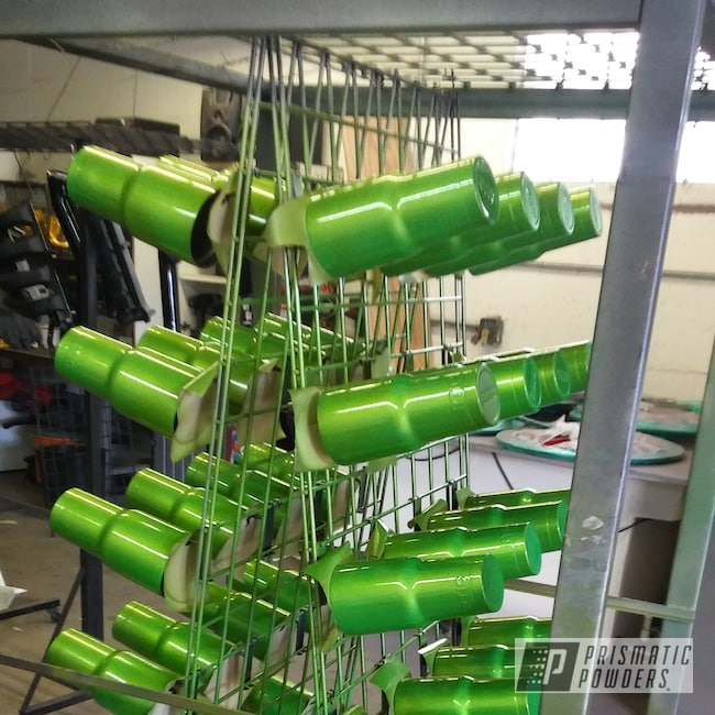 Powder Coating: Clear Vision PPS-2974,Tumbler,RTIC,Illusion Sour Apple PMB-6913,Custom Cup,Custom RTIC Tumbler