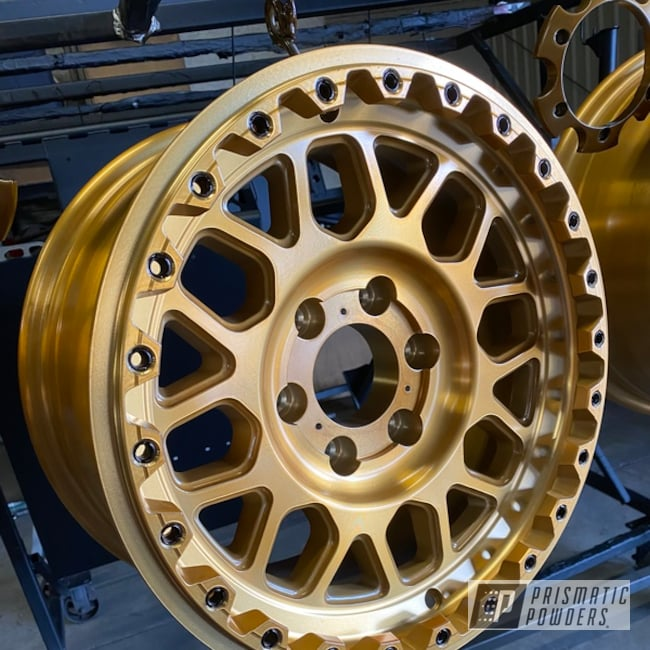 Powder Coated Gold Custom Rims