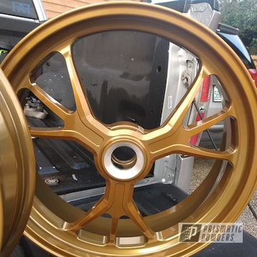 Powder Coated Gold Ducati Motorcycle Rims