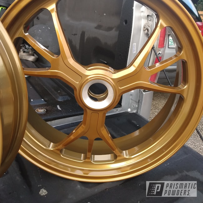 Powder Coating: Wheels,Ducati,SUPER CHROME USS-4482,Motorcycle Rims,Candy Gold PPB-2331,Aluminium Rims,Motorcycles