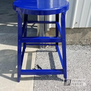 Powder Coated Blue Refinished Shop Stool