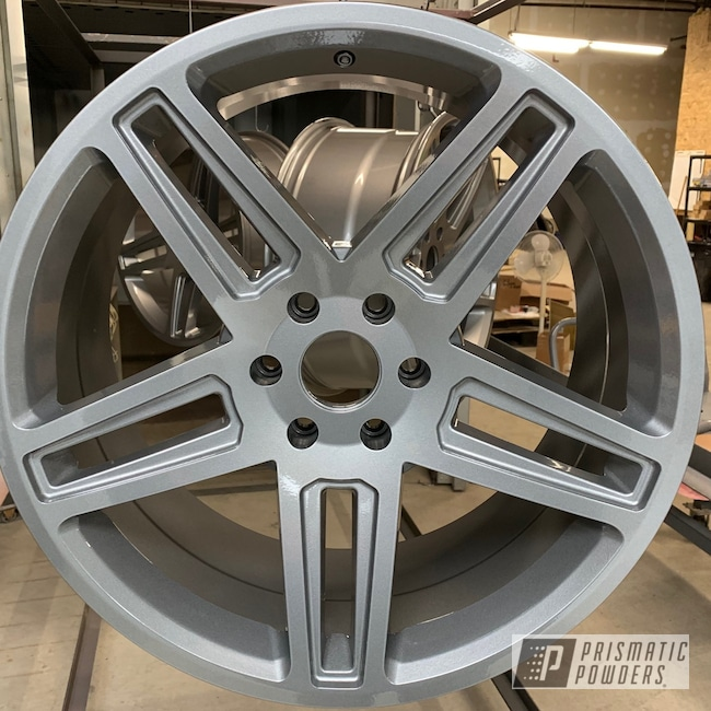 Powder Coating: Wheels,Porsche Silver PMS-0439,Automotive,Clear Vision PPS-2974,Custom Blend,Kingsport Grey PMB-5027,Truck Rims,Ford