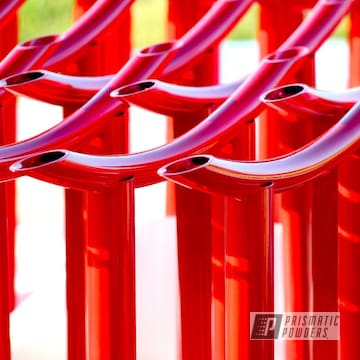 Powder Coated Red Industrial Parts