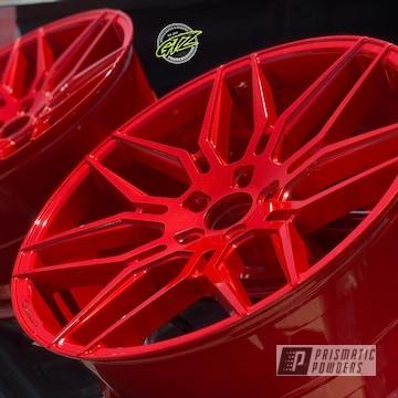 Powder Coated Red Custom Wheels