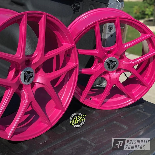 Powder Coating: Wheels,Automotive,Automotive Rims,Lazer Polka Dot Pink PMB-2340