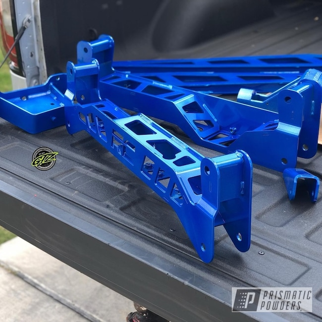 Powder Coating: Automotive,Clear Vision PPS-2974,Lift Kit,Illusion Blue PSS-4513