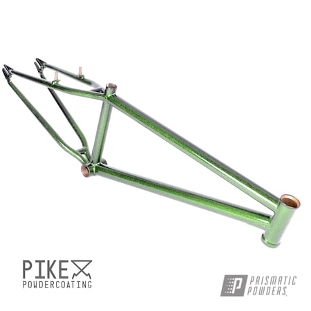 Powder Coating: Bicycles,Clear Vision PPS-2974,Bike Frame,Ink Black PSS-0106,S&M Bikes,Steel Panther,BMX,Disco Moss PPB-7042