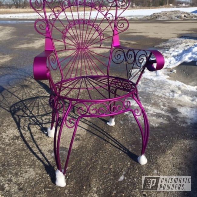 Powder Coating: MATTE CLEAR PPB-4509,Illusion Purple PSB-4629,Antique,Custom Furniture,Vintage,Antique Chairs