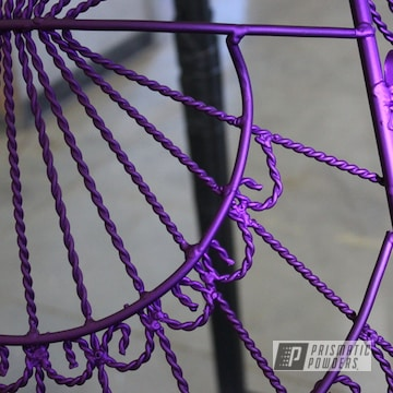 Powder Coated Purple Antique Vintage Metal Chair