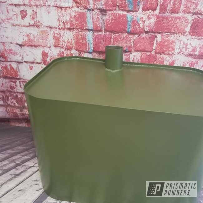 Powder Coating: Automotive,Army Green PSB-4944,Automotive Parts,Gas Tank