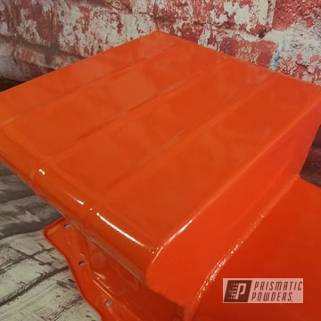 Powder Coated Orange Automotive Oil Pan