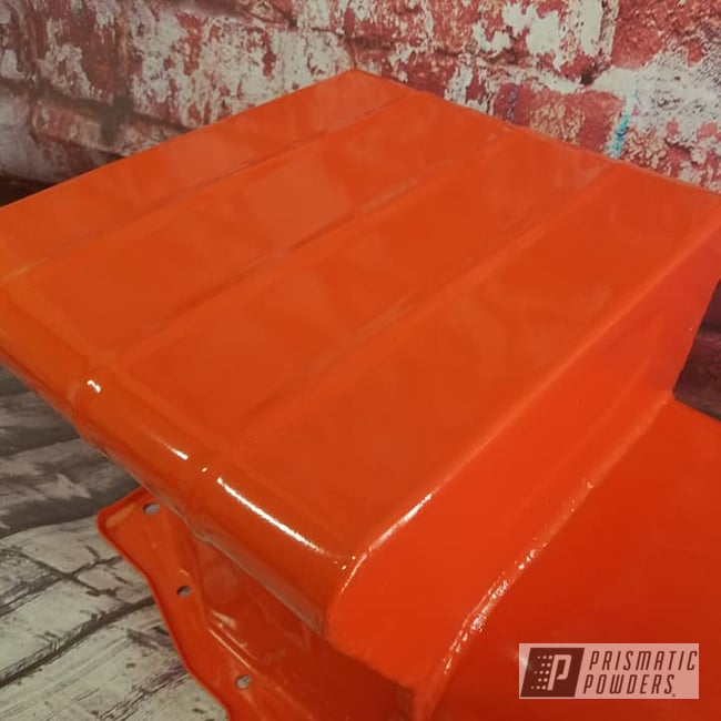 Powder Coating: Automotive,Oil Pan,Chevy Orange PSS-0163,Automotive Parts